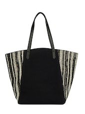 black shimmer tote -  online shopping for Totes