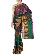 Black Art Silk Jacquard Zari Banarasi Saree - By