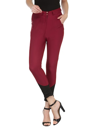 red crepe trouser