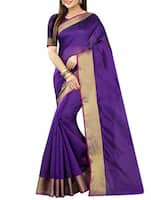 purple cotton bordered saree -  online shopping for Sarees