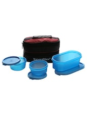 Signoraware Healthy Lunch Box with Bag 3 Containers Lunch Box 900 ml