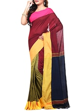 red cotton handloom saree -  online shopping for Sarees