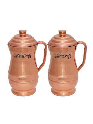 AsiaCraft Pure Copper Jug with Lid, Set of 2