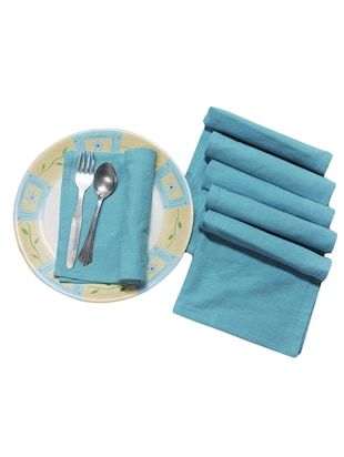 Sky Blue Table Napkin set of 6 Pcs -  online shopping for Napkins & Tissues