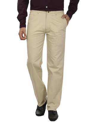 white cotton chinos casual trousers -  online shopping for Casual Trousers