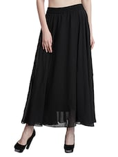 black georgette maxi skirt -  online shopping for Skirts
