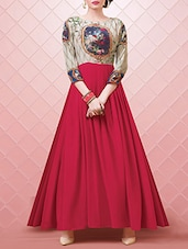 pink georgette gown -  online shopping for gowns