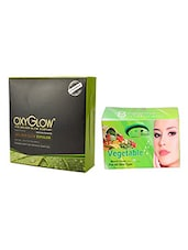 OXYGLOW ANTI ACNE FACIAL KIT 260 GM WITH PINK ROOT VEGETABLE BLEACH 250 GM - By