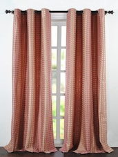 Pink Polyester Jacquard Dot Box Window Curtains - By