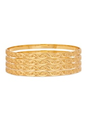 Gold Plated Bangle - By