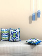 AJ Home Set Of 3 Cotton Ethnic Cushion Covers - By