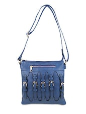 Blue Faux Leather Hand Bag - By