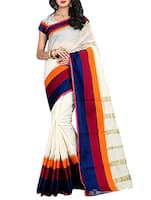 beige cotton woven saree -  online shopping for Sarees