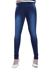 dark blue denim jeggings -  online shopping for Jeggings