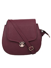 wine leatherette  sling bag -  online shopping for sling bags