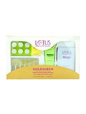Lotus Professional Goldsheen Facial Kit 80 G (Set Of 4) - By