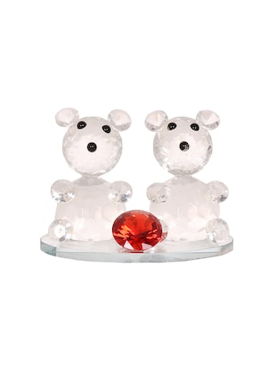 K.S Cute Crystal Teddy Bears Showpiece -  online shopping for gifts & combos