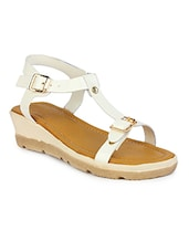 white ankle strap  wedge -  online shopping for wedges