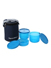 Signoraware Blue Plastic Pack Of 3 Food Container -  online shopping for Containers