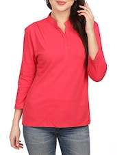 red cotton regular top -  online shopping for Tops