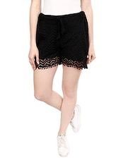 black lace short -  online shopping for Shorts