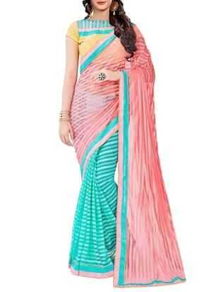 multi faux georgette half and saree