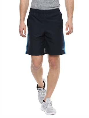 navy blue polyester short -  online shopping for Shorts
