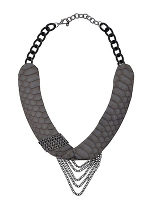 Grey metal necklace