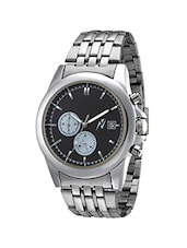 Yepme Men's Original Chronograph Watch - Black/Silver -  online shopping for Chronograph Watches