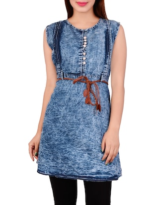 blue denim regular tunic