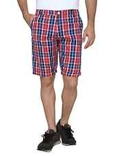 red cotton blend short -  online shopping for Shorts