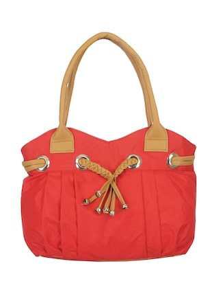 red canvas regular handbag