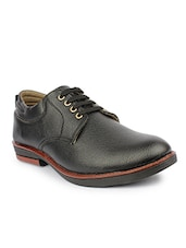 black Leather formal lace-up derby -  online shopping for Derbies