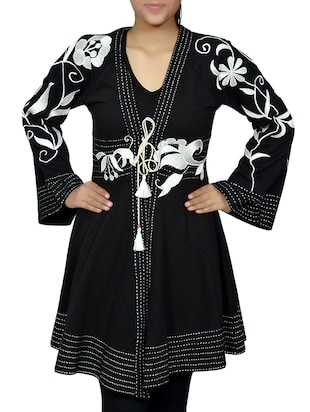 black cotton regular tunic