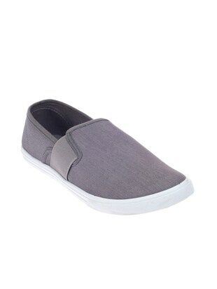 grey canvas slip on shoes -  online shopping for Shoes