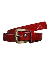 Red Leatherette (pu Belt - By