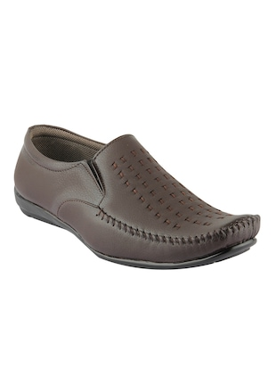 brown leatherette slip on loafer -  online shopping for Loafers