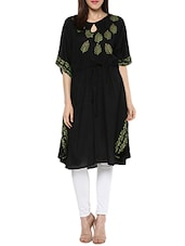 black rayon kaftan kurta -  online shopping for kurtas