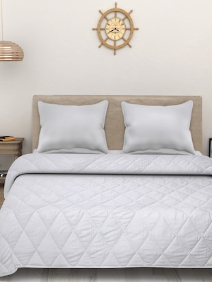 Sleep Sure Super Soft Double Bed 120 GSM White AC Comforter -  online shopping for Quilts and comforters
