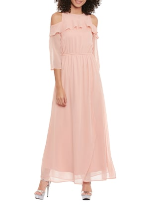 pink maxi dress -  online shopping for Dresses