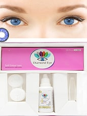 Diamond eye Attractive Dark blue color Special Daily contact lens kit  -  online shopping for Contact Lenses