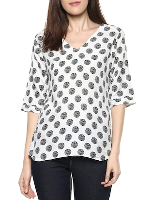 white cotton regular top -  online shopping for Tops