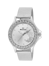 MARCO LR1010-BLACK-CH Round Shape Black Dial Analog Watch For Women & Girl -  online shopping for Wrist watches