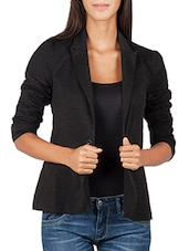 black viscose formal blazer -  online shopping for Blazers