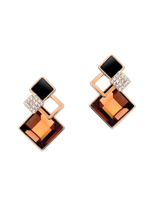 multi metal drop earring