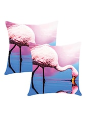 Digitally Printed Cushion Cover With Swam In Water Set Of Two - By