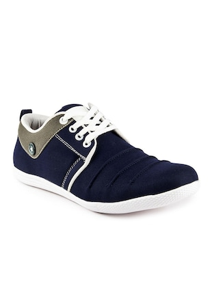 blue denim lace up sneakers -  online shopping for Sneakers