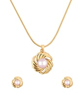 gold metal pendants and earring -  online shopping for Pendants and Earrings