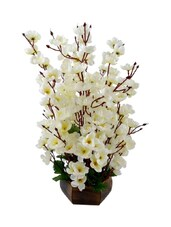 "White Assorted Artificial Flower  With Pot (16 Inch, Pack Of 1)"" - By"
