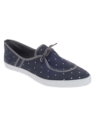 blue faux leather laceup casual shoes -  online shopping for Casual Shoes